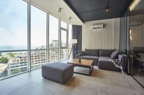 стильная, видовая квартира в жк Гагаин Плаза(№1-632)
