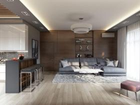 Дизайн-проект, 2х ком квартира в жк Восьмая Жемчужина(№2-285)
