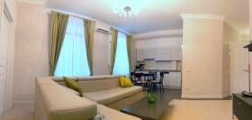 новая двуспальная квартира в жк Гефест, центр(№3-386)