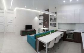 Санторина, видовая квартира на две спальни(№3-765)
