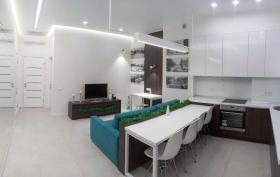 Санторини, двуспальная квартира в доме у моря(№2-794)
